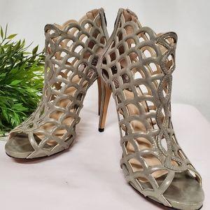 Vince Camuto Fontanela leather peep toe caged heel